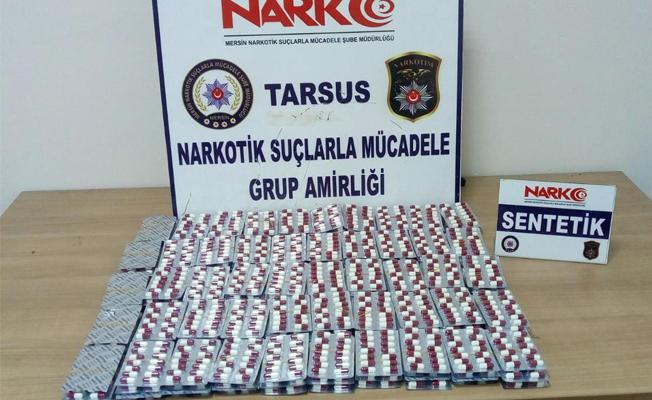 Tarsus'ta Sentetik Uyuşturucu Hap Ele Geçirildi