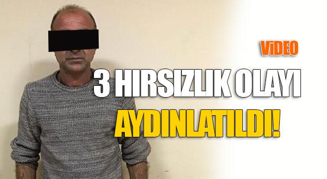 3 Faili Meçhul Hırsızlık Olayını Aydınlatan Polis, Zanlıyı Yakaladı