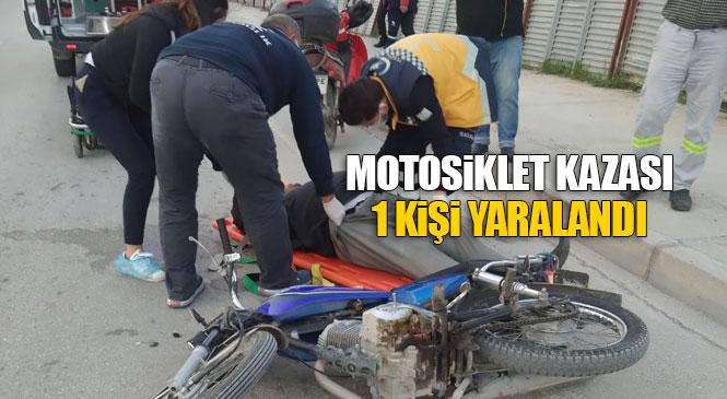 Direksiyon Hakimiyetini Kaybedip Düşen Sürücü Hafif Yaralandı