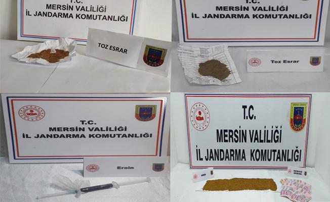 Silifke ve Tarsus'ta Uyuşturucu Operasyonu