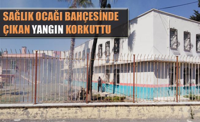 Tarsus'ta Sağlık Ocağı Bahçesinde Çıkan Yangın Korkuttu