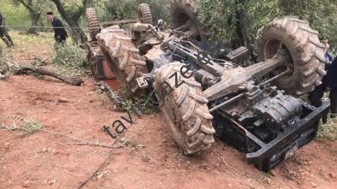 Tarsus'ta Traktör kazası